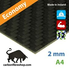 ECONOMY Real Carbon Fibre Sheet A4 210x297x2mm