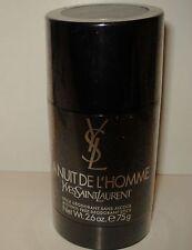 LA Nuit De L'Homme Yves Saint Laurent for Men 2.6oz Alcohol Free Deodorant Stick