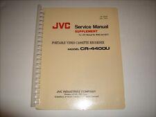 JVC Service Manual #8097 for Portable VCR CR-4400U Mint Condition