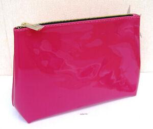 Yves Saint Laurent Fuchsia Pink Patent  Beaute Make Up/Clutch Bag