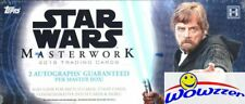 2018 Topps Star Wars Masterwork Factory Sealed HOBBY Box-4 HITS-2 AUTOS!