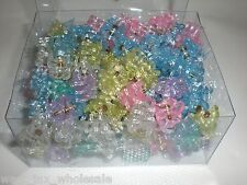 Mini Round Flower Shiny Glittery Cute Plastic Hair Snap Claw Styling 1152 Clips