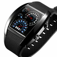 New Mens Fashion Luxury Date Digital Sport Led Watch Rubber Wrist ALL Black Gift