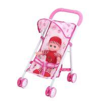 Puppenbuggy mit Puppe Puppenwagen Puppenkarre Spielzeug Kinder Baby Stroller