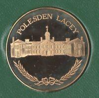 Polesden Lacey, Surrey Solid Bronze Souvenir Medallion In Sandhill Case