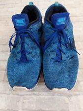 Nike Flyknit Lunar 1 One Game Royal Chlorine Blue 554887 440 Lunar1 Size 14
