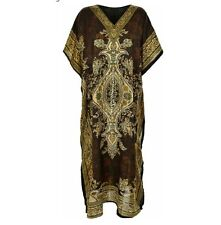 Ladies Women's Summer Floral Print Long Kaftan Dress African Style 12 to 24