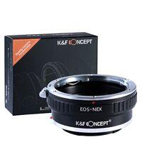 Canon EOS Lens To Sony E-Mount Ring NEX-3 NEX-7 NEX-5N NEX-C3 NEX-VG10 Adapter