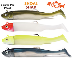 Shoal Shad   2 Full Lures Per Packet   30g Weedless Bass Sea Fishing Lures