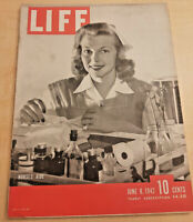 Life Magazine June 8 1942 - Flight from Burma, U.S. Launches New Ships, more
