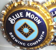 New Blue Moon Beer Bottle Cap Earrings Handmade
