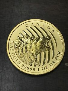 2014 Canada 200 Dollars - Call of the Wild - Howling Wolf .99999 Gold 1 oz