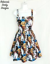 Cute puppy dog lover dress pinup rockabilly emo lolita fashion tube top kei punk
