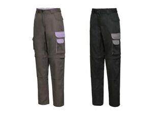 POWERFIX® Arbeitshose Damen Damenhose Bundhose mit Zip-Off-Funktion Bermuda