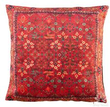 Red Floral Rug Cushion Cover Luxury Colorful Print Velvet Pillow Case Lounge