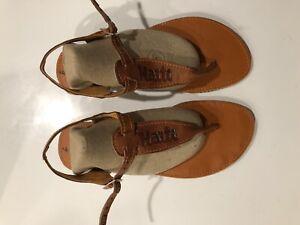 Haitian Handmade Leather Sandal for Women. Size 9.