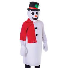 Adult Snowman Costume Winter Wonderland Christmas Unisex Fancy Dress Outfit New