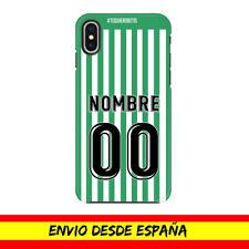 Funda Movil Apple Iphone Camiseta Futbol Compatible con Betis Nombre Numero