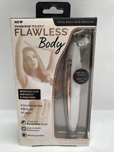 New*  Touch Flawless Body Rechargeable Ladies Shaver - White/Rose Gold