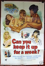 """CAN YOU KEEP IT UP FOR A WEEK? Jeremy Bulloch Original 41x27""""  Movie Poster 70s"""