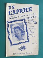 """Partition  Chant """"Un caprice"""" VAN PARYS J. SOLAR Danielle DARRIEUX"""