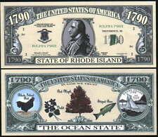Rhode Island State Quarter Bill - Lot of 10 bills