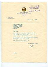 M William Bray Lieutenant Governor of New York NY Signed Autograph TSL