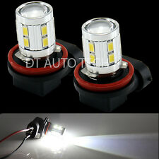 2X H11 6000K 5630 Chip Cree High Power LED Projector Fog Light Lamp