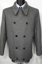 AQUASCUTUM GREY  Pea Coat Jacket WOOL BNWT UK 44