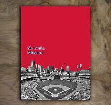 "St. Louis Cardinals Sports Poster MLB Art Print Rare Hot New 12x16"""