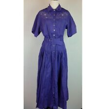 Vintage Together Maxi Dress Womens 4 Crochet Lace Purple Pockets
