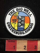 Worlds Largest Hand Dug Well THE BIG WELL GREENSBURG Kansas Patch C71C