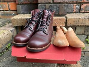 Red Wing 8119 Iron Ranger boot with Oxblood leather in US 8D, made in USA