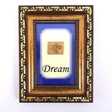 5X7 Photo Frame with Dream Moon and Star 3D Mat Print Hang or Free Standing