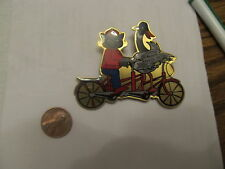 OOTM pin Michigan 2003 goose & raccoon on bike pin odyssey of the mind