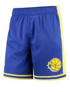 Royal Blue Golden State Warriors Mitchell & Ness NBA Men's Swingman Shorts