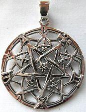Sterling Silver  (925)  Pentagram  Web   Pendant     !!       Brand  New  !!