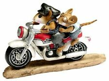 RETIRED! WEE FOREST FOLK SPARKEY AND SON MOTORCYCLE MICE M-314B