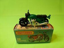 MATCHBOX 18 MOTOR CYCLE HONDRORA - GREEN - NEAR MINT IN BOX