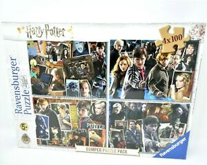 RAVENSBURGER HARRY POTTER JIGSAW Bumper Puzzle Pack 4 x 100 pce Factory Sealed