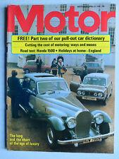 Motor - April 12 1975 mit Test Honda Civic 1500, Panther deVille, Mercedes Gullw
