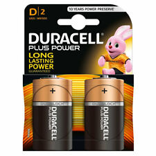 Duracell Plus Power D Batteries Duralock LR20 MN1300 Alkaline Battery 2 Pack