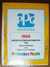 1969 PPG Industries Pittsburgh Paints Heavy Duty Coatings ASBESTOS Sidin Catalog