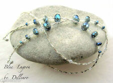 ✫ Blue Lagoon ✫ cristal goteado recetadas gafas gafas gafas Cadena Porta Cable