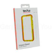 Genuine Tech21 Impact Band Case Cover For Apple iPhone 5S/5/5C/SE - Clear/Yellow