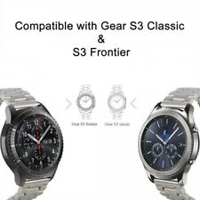 Silver Stainless Steel Metal Watch Strap + Connector For Samsung Galaxy Gear S3