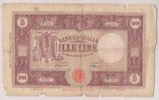 1000 LIRE GRANDI- BARBETTI- DEC. 12 OTTOBRE 1946  E 10 AGOSTO 1943   RARA  MB++
