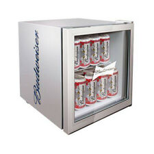 Husky Free-Standing, HUS-HM72 Budweiser Mini Fridge, 46L Capacity, A+, Silver