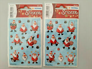2x Sticker Weihnachtsmänner je 3 Bögen Aufkleber No. 3421 HERMA Weihnachten