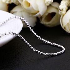 """Impresionante Platinados cadena / collar de 18 """" + 2"""" Extensor Cadena (026)"""
